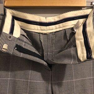 MICHEAL KORS Glen Plaid Grey Trousers (8)